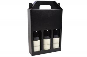 Flip Top Black Wine Box with Insert The Printing Daddy