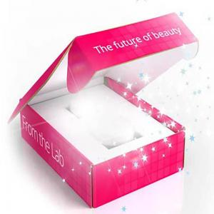 Pink Emboss Make Up Box with Insert