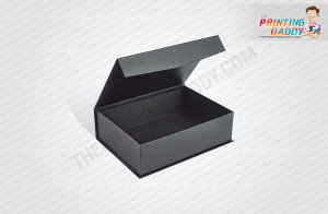 Black Luxury Hair Extension Box with Spot UV The Printing Daddy