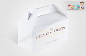 Blue Logo Cheesecake Box The Printing Daddy