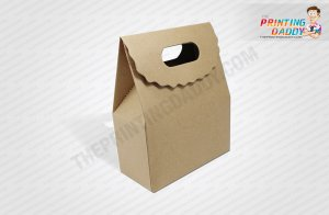 Brown Bakery Box With Handle The Printing Daddy