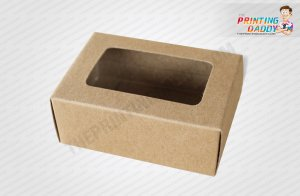 Cardboard Box with Window Lid The Printing Daddy
