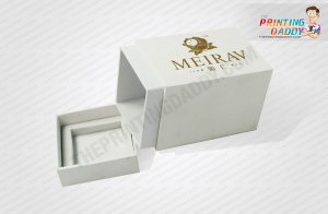 Gold Perfume 2-Piece Box with Plastic Cover The Printing Daddy