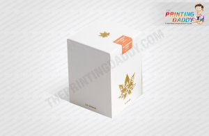Grey Cannabis Box with Gold Foil Logo The Printing Daddy
