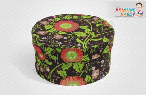 Round Shaped Black Flower Box The Printing Daddy