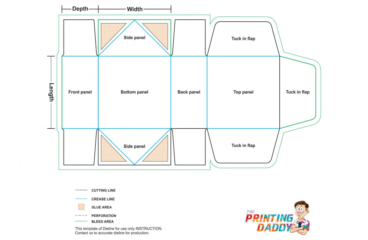 4 Corner Tray Tuck Top The Printing Daddy