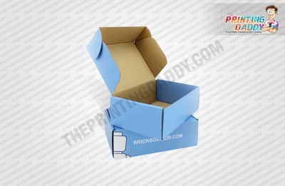 Blue Double Sided Print Box The Printing Daddy