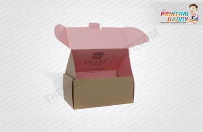 Pink Luxury Apparel Box with Gold Foil Logo The Printing Daddy