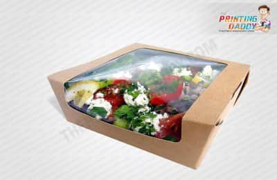 Salad Packaging Boxes with Window The Printing Daddy