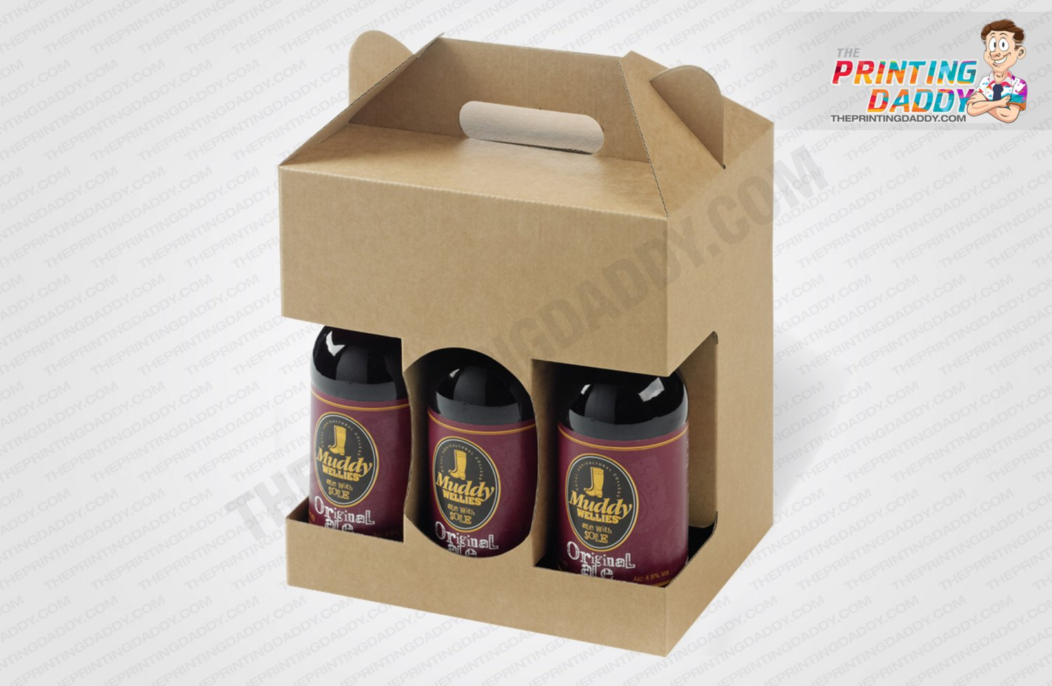 6 Bottles Packs Beer Carrier Boxes The Printing Daddy