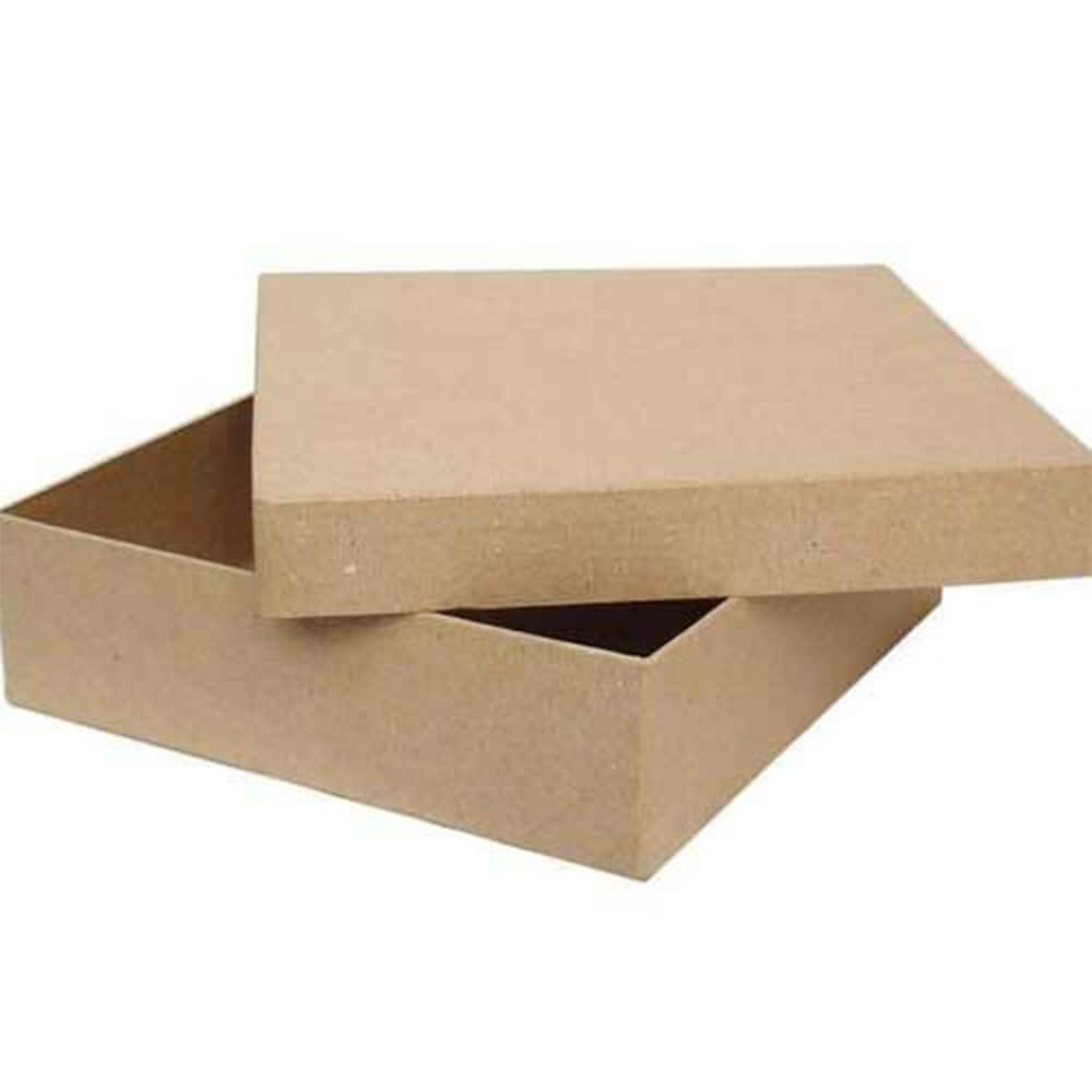 Texture Brown Hexagon Box with Ribbon
