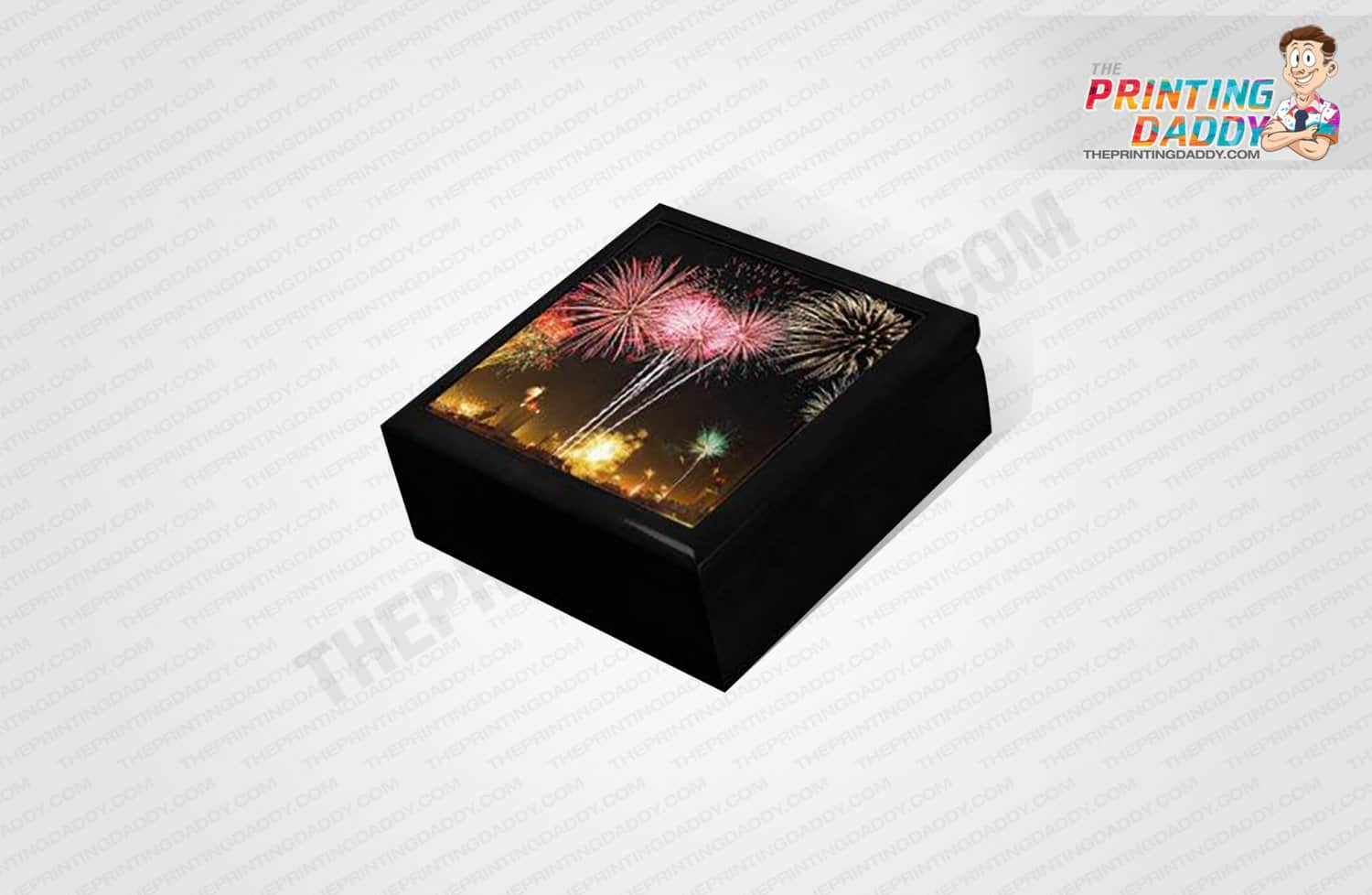 Black Firework Event Lid-Off Box The Printing Daddy