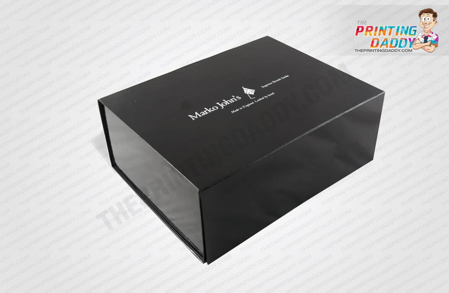 Black & White Printed Slotted Box The Printing Daddy