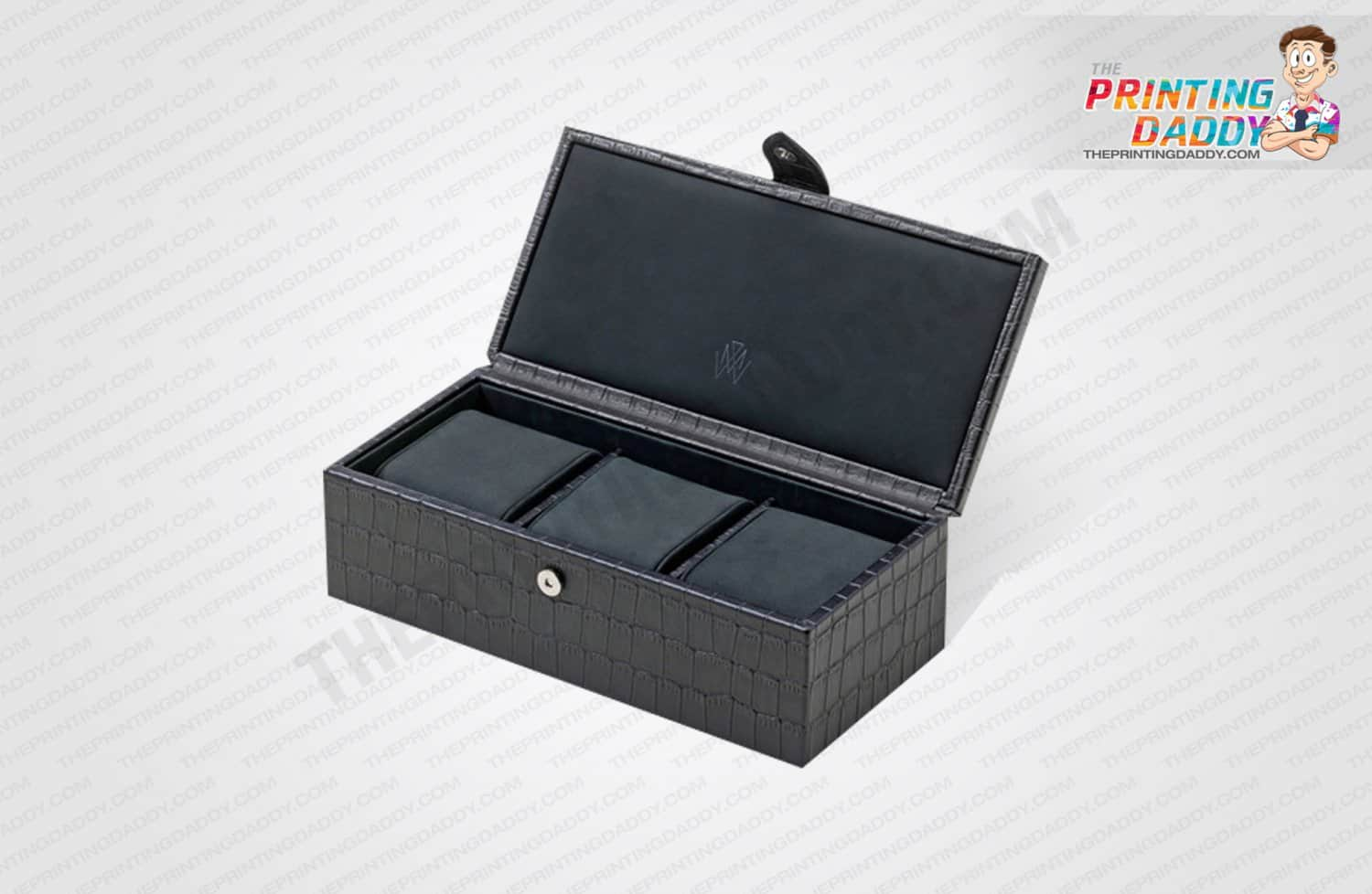 Black & White Texture Watch Box The Printing Daddy