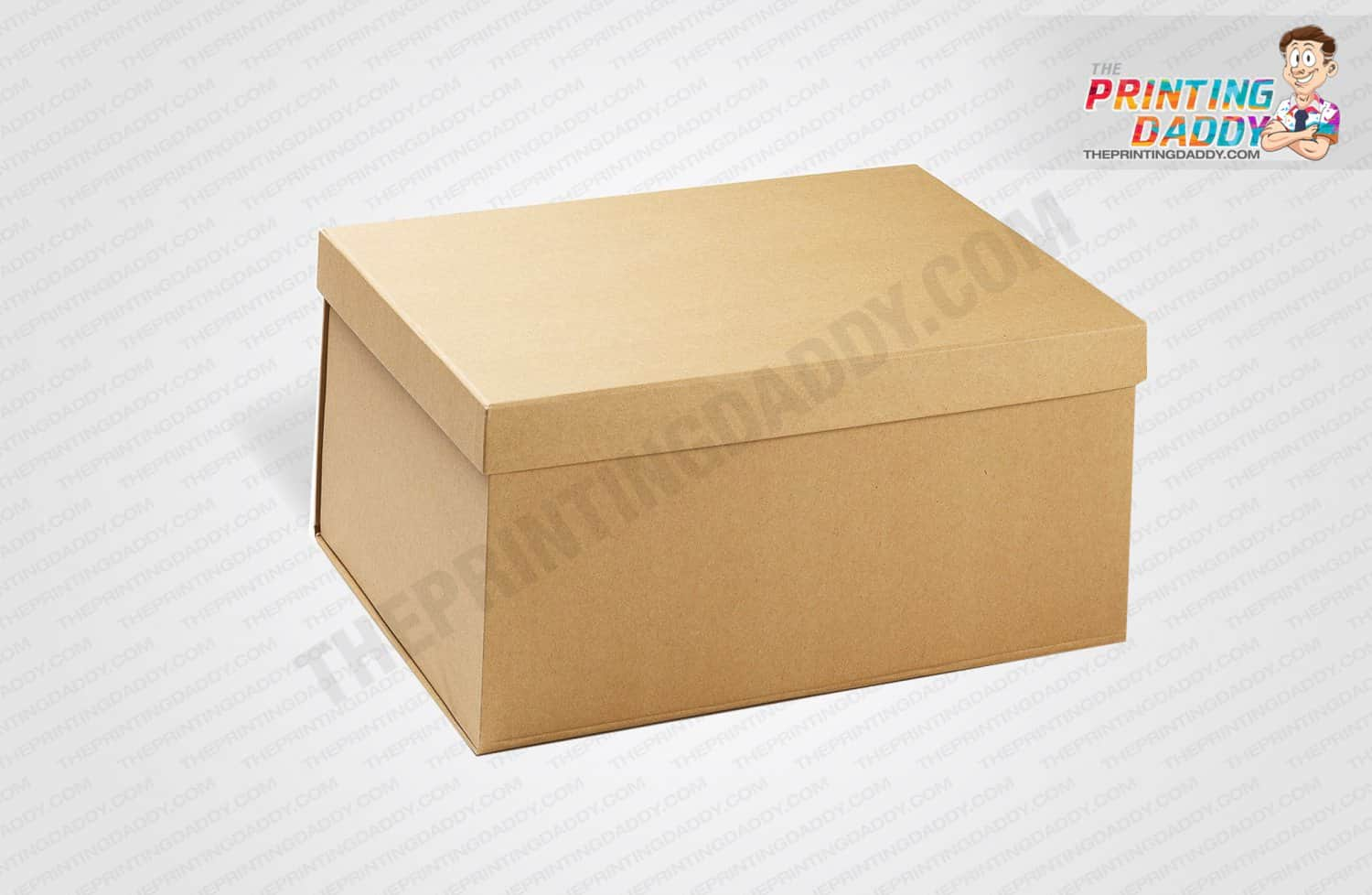 Brown Box with Lid The Printing Daddy