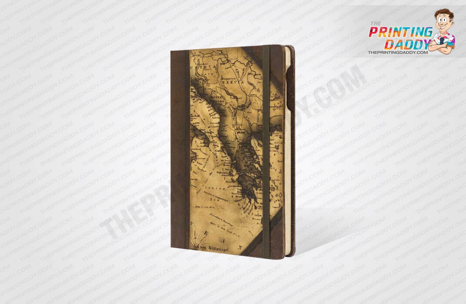 Brown Notebook Box with Side Lid The Printing Daddy