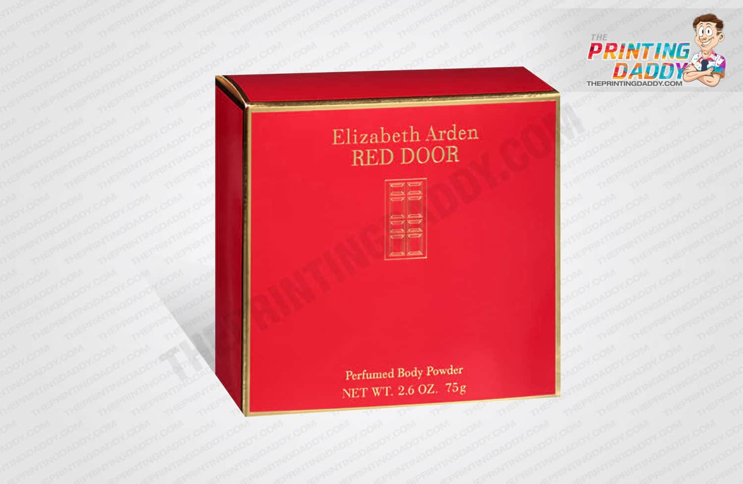 Collapsible Red Body Powder Box The Printing Daddy