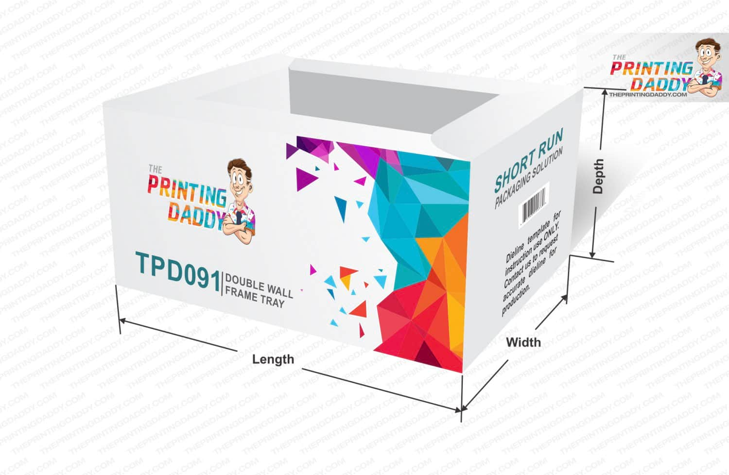 Double Wall Frame Tray The Printing Daddy