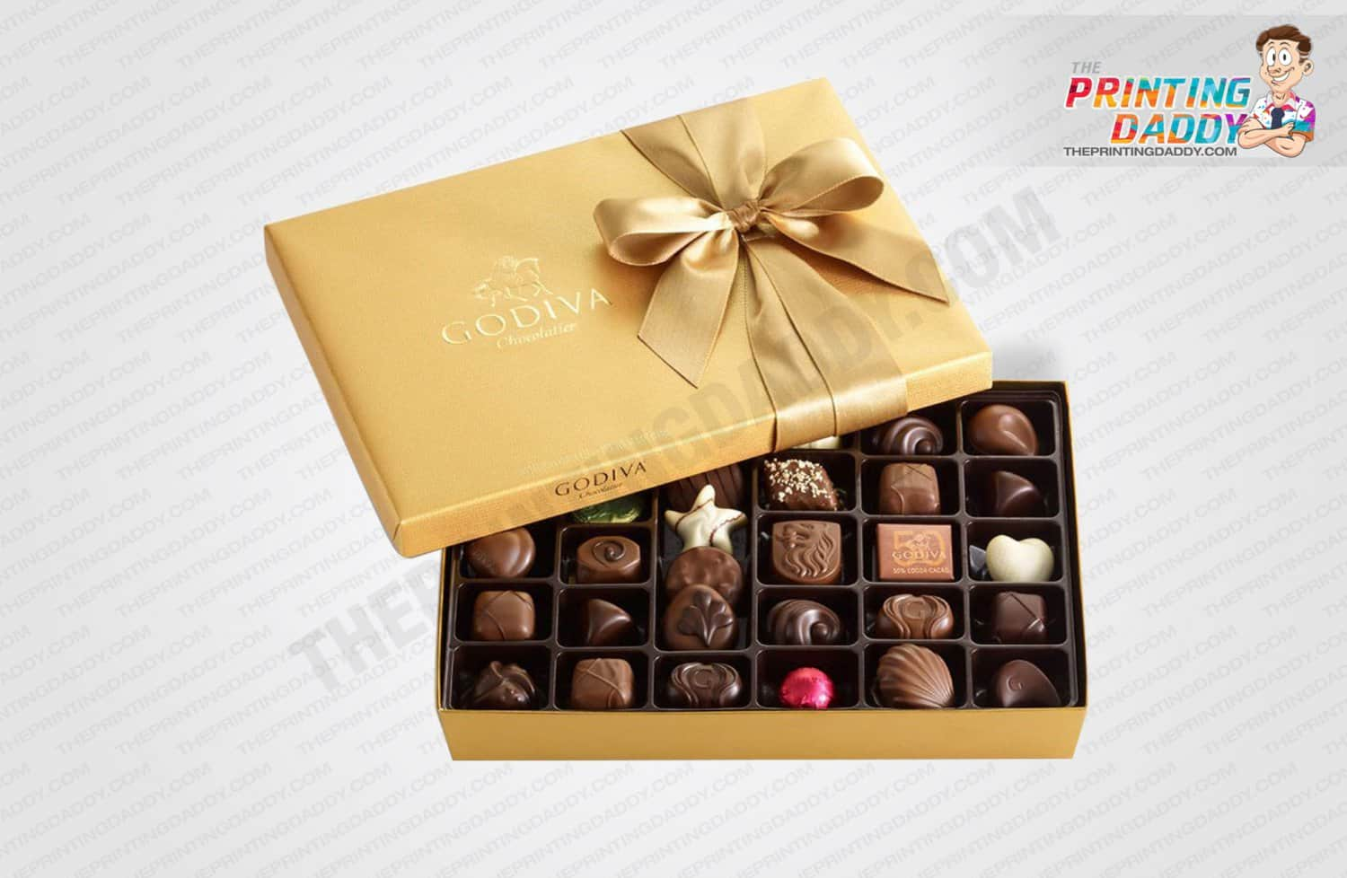 Gold Chocolate with Ribbon Box The Printing Daddy