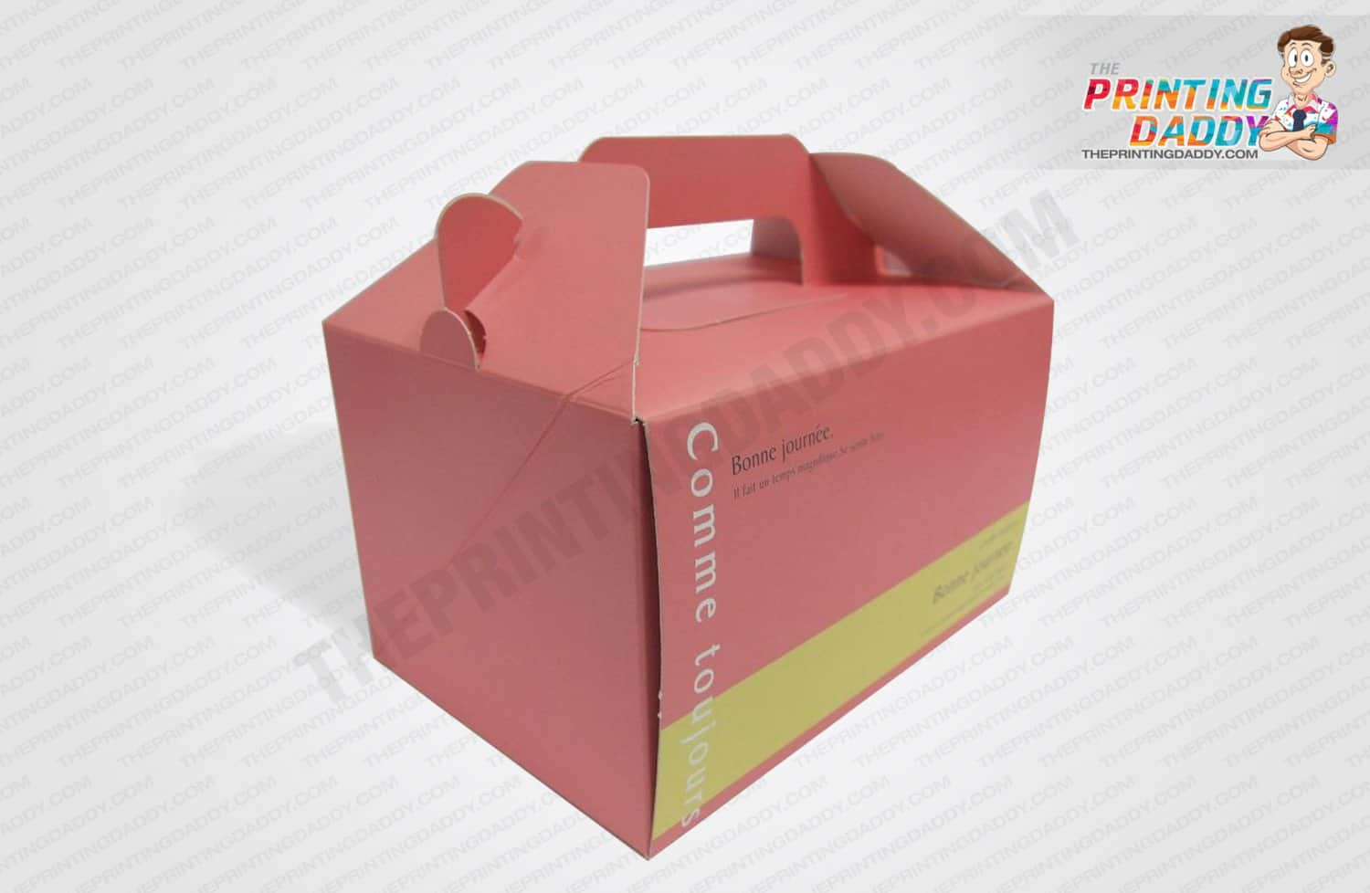 Kraft Cake Boxes with Handle The Printing Daddy