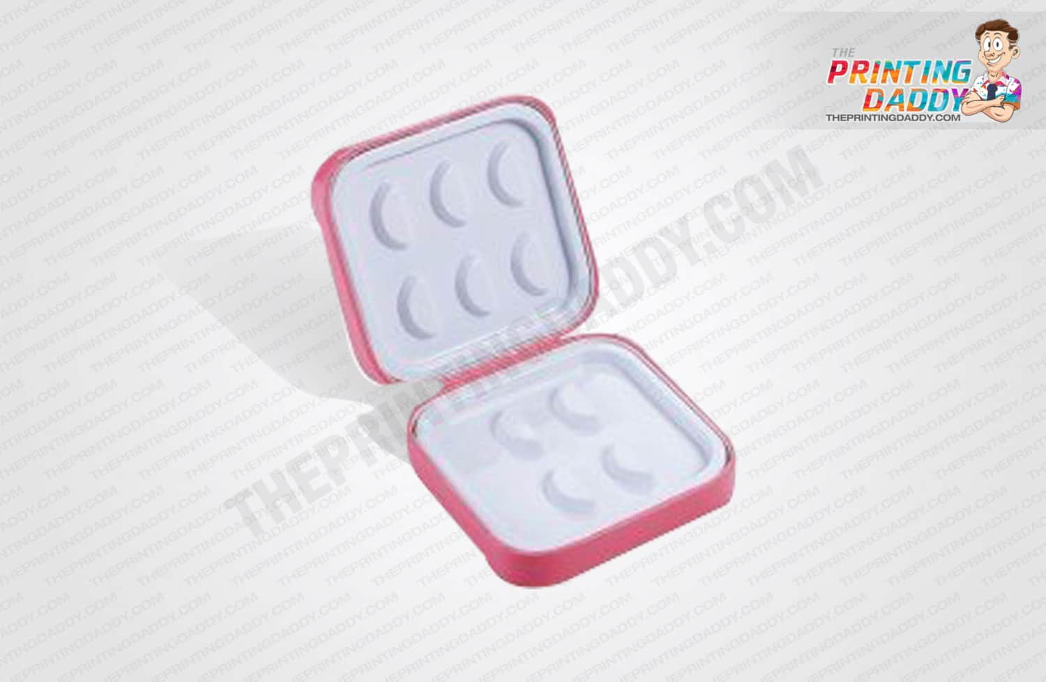 Pink Lash Box with Silver Foil & Sleeve The Printing Daddy