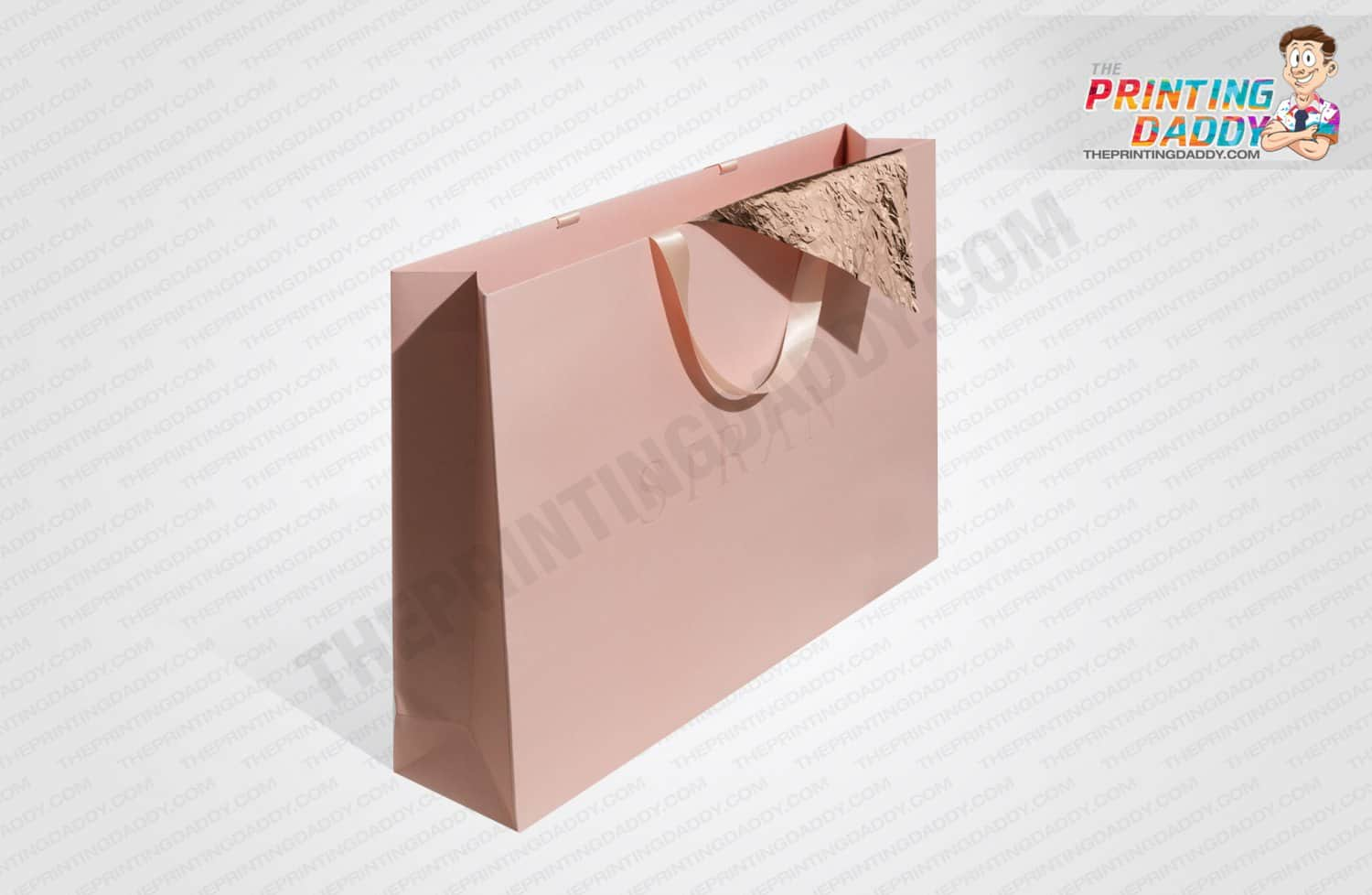 Pink Sleeve with Gold Foil Logo The Printing Daddy