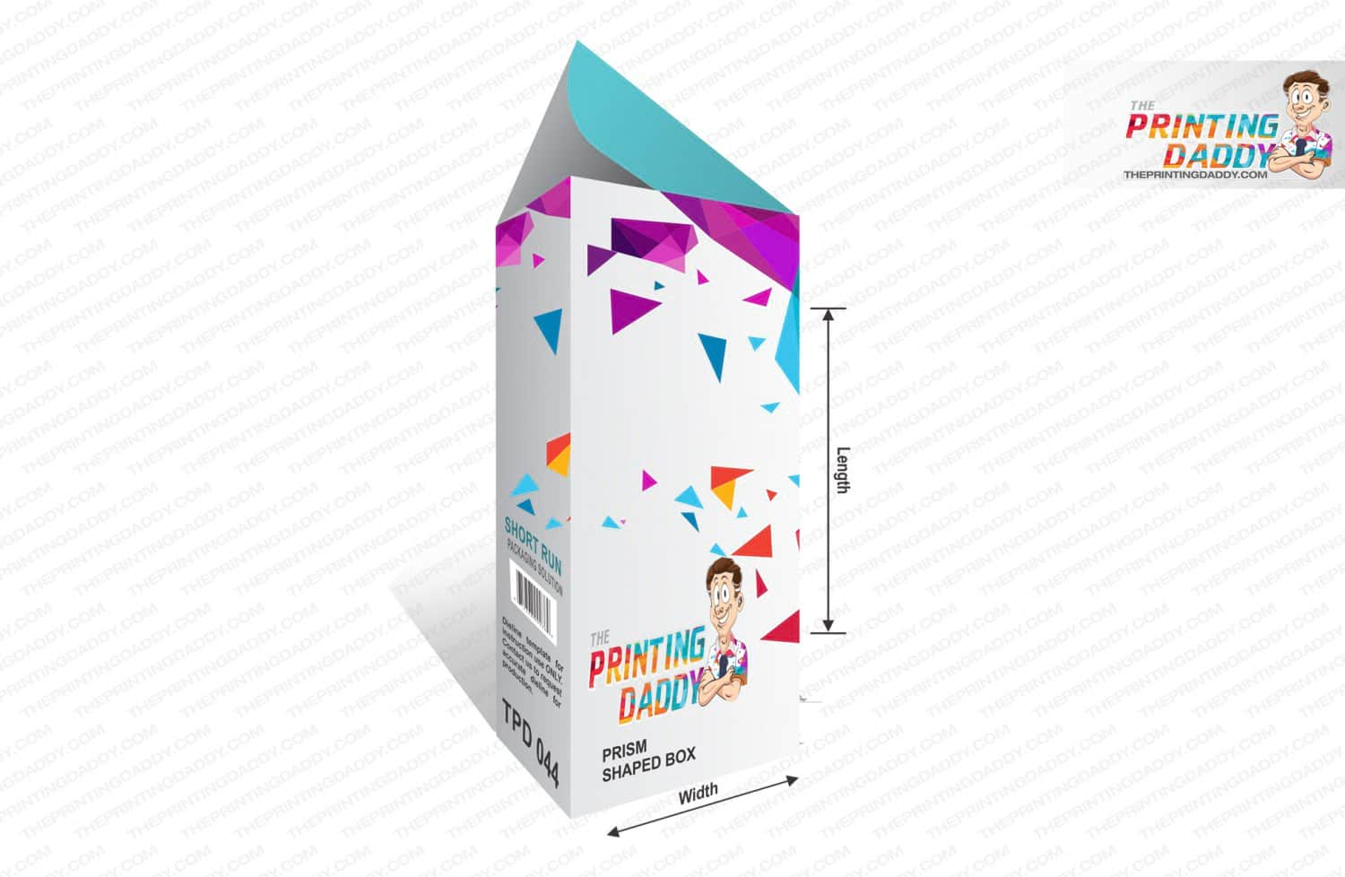 Prism Shaped Box The Printing Daddy