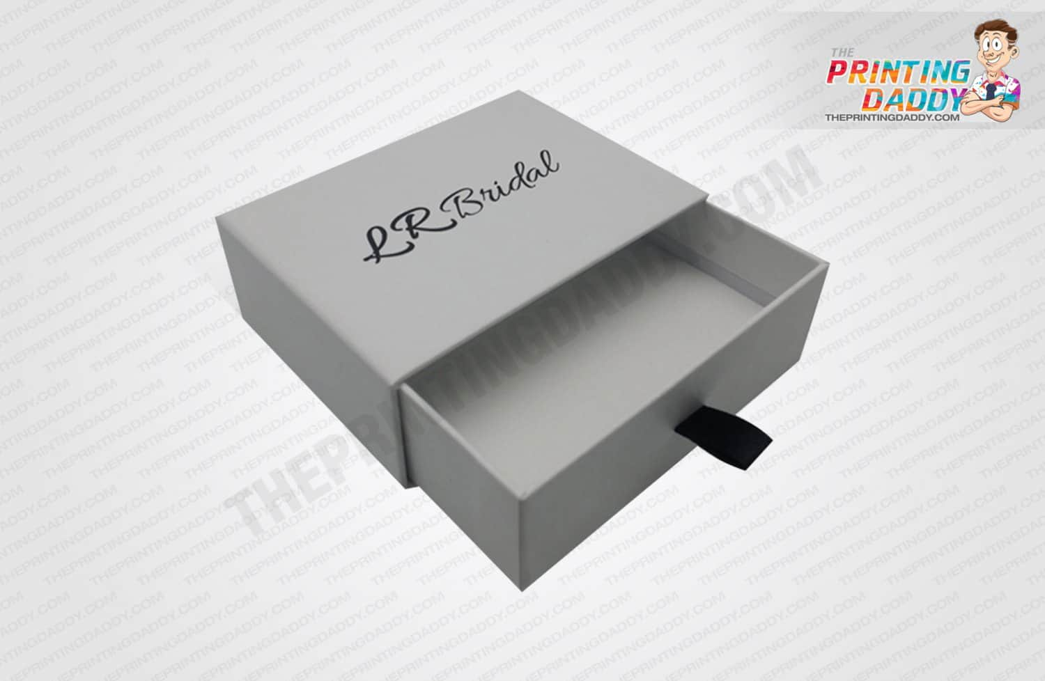 White Phone Drawer Style Box with Insert The Printing Daddy