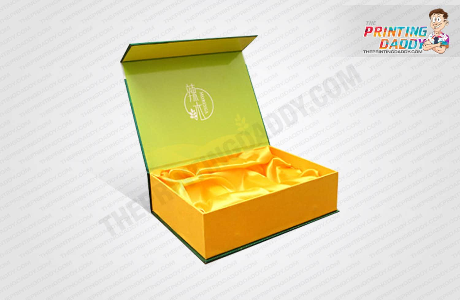 Yellow Hinged Box with Sleeve The Printing Daddy
